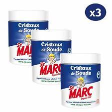 Lot 3 St Marc 500 Gr Cristaux de Soude Nettoyant Multi-Usage 100% Naturelle