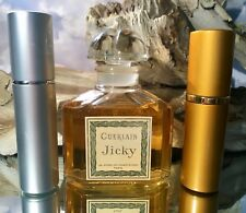 *JICKY by GUERLAIN* *10 ML DECANT* *SILVER/GOLD ATOMIZER * *VINTAGE EXTRAIT*