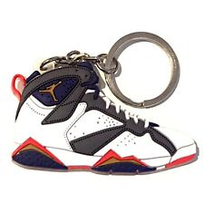 AIR JORDAN VII 7 RETRO OLYMPIC SILVER MIRO SNEAKER SHOES KEY CHAIN RING HOLDER