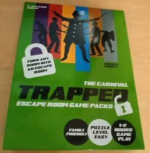 Trapped The Carnival, Escape Room Game Pack, Family Friendly, Easy Puzzle Level