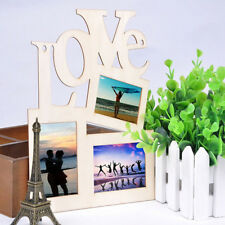 New Wood Hanging Love Heart Shaped 3-Photos Frame Multi Picture Love Frames Gift