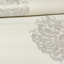 Fine Decor White Metallic Silver Damask Textured Wallpaper FD68502 Paste Wall