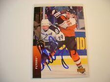 GILBERT DIONNE HAND SIGNED AUTO AUTOGRAPH NHL HOCKEY CARD PHILADELPHIA FLYERS