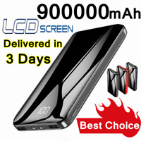 2020 Portable External 900000mAh Power Bank 2USB Backup Battery Charger