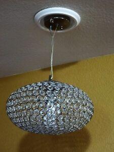 "13"" INTERIOR CRYSTAL Ceiling Pendant  Hanging Light Fixture Kichler Krystal Ice"