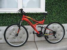 "26"" Wheel Full Suspension 18 Speed Gear V Brakes Mountain Bicycle Bike 17"" Frame"