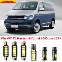 Für VW T5 Kasten &Kombi SMD LED Innenraumbeleuchtung Multivan Caravelle weiß DE