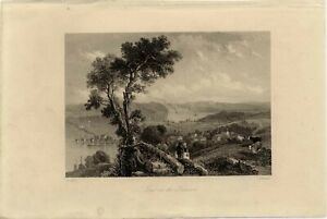 View on the Hudson. J.T. Willmore after T. Creswick. London 1842