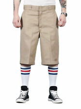 """Long 13 to 17"""" Inseam Flat Front Shorts for Men"""