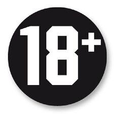 Magnet Aimant Frigo Ø38mm Badge Symboles et Signes 18+ Age