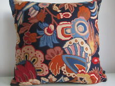 Liberty Morris Haughton Blue Vintage Floral & Navy Velvet Fabric Cushion Cover B
