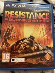 Resistance Burning Skies PS Vita Original Box / Case & Cover *NO CART*