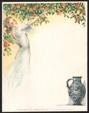 Louis Icart. Composition pour un menu. Propagande du bon cidre. Vers 1930