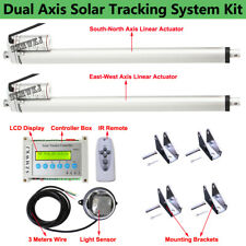 """Electric Solar Panel Tracking Tracker +16"""" Dc Linear Actuator +Lcd Controller Do"""