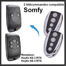 2 télécommandes compatible pour Portail SOMFY KEYTIS-NS-2-RTS, KEYTIS NS-4-RTS