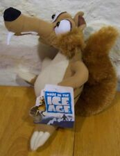 "Ice Age 4 Continental Drift SCRAT Squirrel 10"" Plush STUFFED ANIMAL TOY NEW"