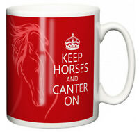 """Dirty Fingers Equestrian Mug """"Keep Horses and Canter On"""" Stable Girl Boy Gift"""