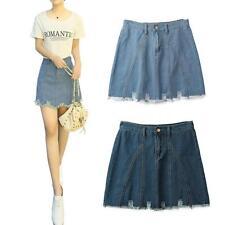 Denim Knee Length Skirts Plus Size for Women