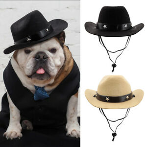 Dogs Hats Fashion Cowboy Cosplay Holiday Party Accessories for Small Large Dogs