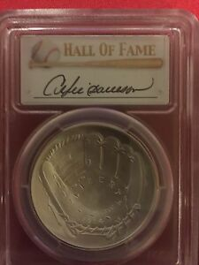 2014 P $1. BASEBALL HALL OF FAME PCGS MS69 FIRST STRIKE ANDRE  DAWSON