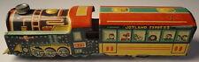 Joyland Express Toy Tin Friction Train Locomotive Vintage 1950's Very Colorful