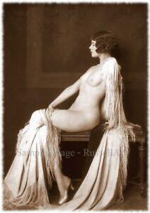 Vintage 5 Retro Erotic Nude female sepia A4 A3 A2 PHOTO EDIT REPRINT RussellArt