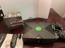 Original Xbox Console Bundle - 13 Games - 2 Controllers - Media Remote/dongle