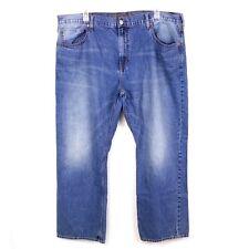 American Eagle Mens sz 44 x 32 Med Wash Distressed Denim Jeans Straight Leg