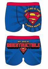 MENS CHARACTER NOVELTY FATHERS DAY DAD HERO SUPERMAN BOXER SHORT TRUNKS S-XL
