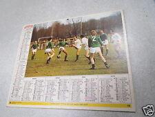 ALMANACH PTT calendrier des postes 1977 football oberthur *