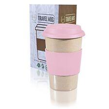 Travel Mug & Lid Reusable To Go PINK 14oz Coffee Cup best Gift FDA BPA Free