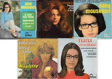 Lot de cinq 45 tours, variétés des années 60 !