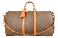 Louis Vuitton Monogram Keepall 55 Bandouliere Travel Bag Strap M41414 - YG00597