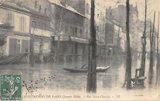 CPA 75 INONDATIONS DE PARIS RUE SAINT CHARLES