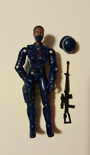 GI Joe Black Major Exclusive Female Cobra Trooper, Dark skin, new custom o-ring