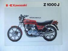 Kawasaki moto Z1000 J Z1000J   pubblicita brochure depliant motorcycles