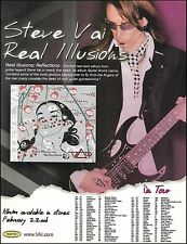 Steve Vai 2005 Real Illusions Reflection tour dates ad 8 x 11 advertisement