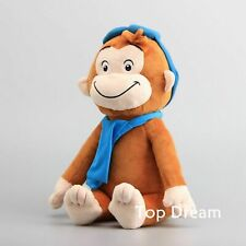 CURIOUS GEORGE The Monkey Plush Toy Soft Stuffed Animal Doll 12'' Kids Gift