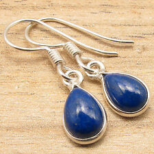 "Drop LAPIS LAZULI TRENDY Earrings 1.1"" ! 925 Silver Plated Over Solid Copper"
