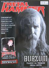 METAL HAMMER 2 2010 Metallica Chickenfoot Kreator Queensrÿche Rammstein Sybreed
