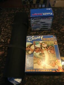 "Disney Photomosaics Puzzle Ravensburger Stow and Go Roll Up Mat 46""X26"" & Sorter"