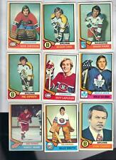 185 different 1974-75 Topps Hockey Lot (185/264) EXMT/NRMT Orr, Dryden, Cherry