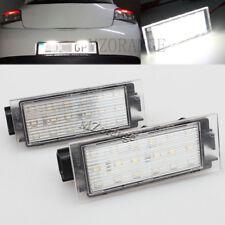 2x Error Free LED Number License Plate Light Lamp For Renault Clio Laguna Megane