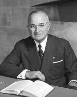 President Harry Truman World War II WWII USA Portrait 11 x 14 Photo Photograph