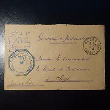 FRANCE LETTRE EN FRANCHISE COVER GENDARMERIE CAD PEZOU 1935 POUR CLOYES