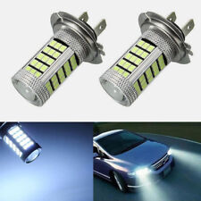 2x H7 2835 66SMD LED Car Fog Signal Turn Driving Light Lamp Bulb White 6500K