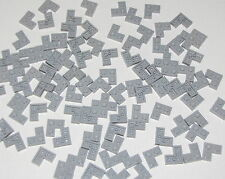 Lego Lot of 100 New Light Bluish Gray Plates 2 x 2 Corner Pieces