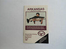 Arkansas Game & Fish Commission Regulations Guide Booklet 1989