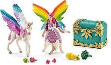 Schleich 41440 Spielzeugfigur Regenbogenelfe Lis mit Pegasus Fohlen Pferd Bayala