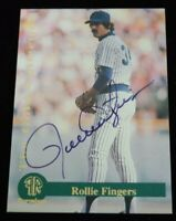 Authentic Autographed Baseball Card Rollie Fingers Milwaukee Brewers